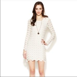 Free People White Open Knitted Dress S